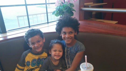 Jamel Myles, who died by suicide late last month, with half sister Tyianniah Myles and sister Taniece Pierce.