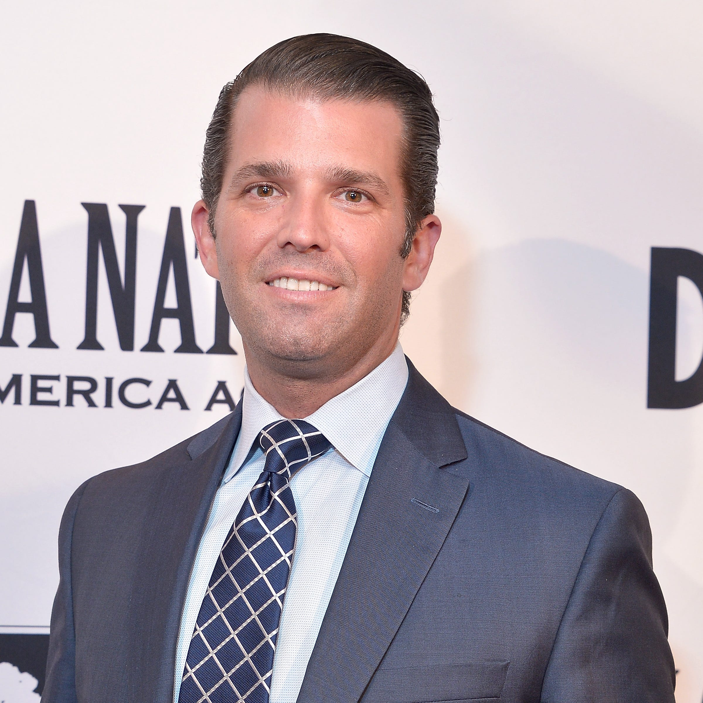 "Donald Trump, Jr. attends the Washington premiere of the film, ""Death of a Nation,"" at E Street Cinema on Aug. 1, 2018, in Washington, D.C."