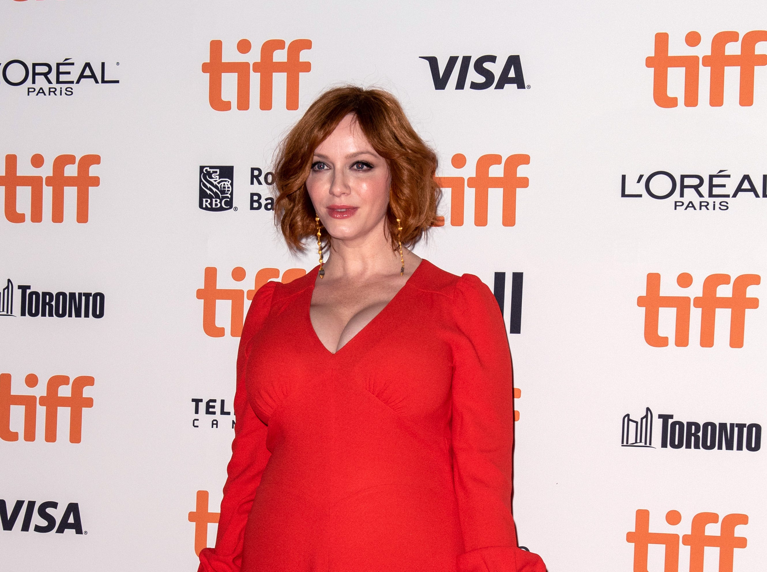 TORONTO, ON - SEPTEMBER 09:  Actress Christina Hendricks attends the 'American Woman' premiere during 2018 Toronto International Film Festival at Princess of Wales Theatre on September 9, 2018 in Toronto, Canada.