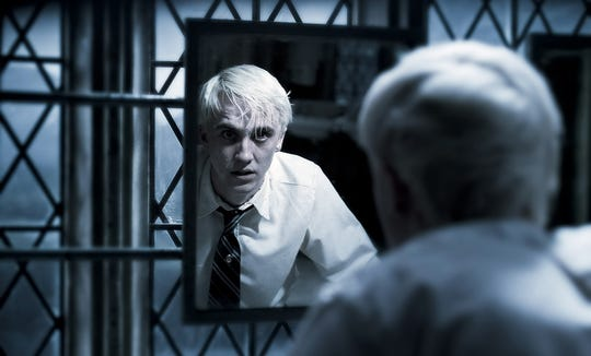 Draco Malfoy (Tom Felton) is a case study in remaining a complicit bystander during difficult situations.