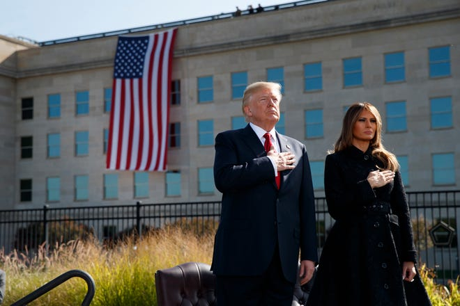 At the Sept. 11 memorial ceremony at the Pentagon in 2017.