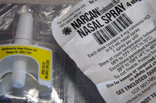 8/23/18 2:43:24 PM-- Glen Burnie, MD, U.S.A --    Narcan (naloxone) will be used to help deal with overdoses of opiates and opioids in the Anne Arundel County (Maryland) school system.  Schools are training school nurses and employees to prevent heroin and fentanyl overdoses.  --    Photo by Doug Kapustin, Freelance ORG XMIT: