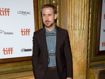 "Ryan Gosling attends the gala for ""First Man"" on day 5 of the Toronto International Film Festival at the Elgin Theatre on Monday, Sept. 10, 2018, in Toronto. (Photo by Evan Agostini/Invision/AP) ORG XMIT: CANPM107"
