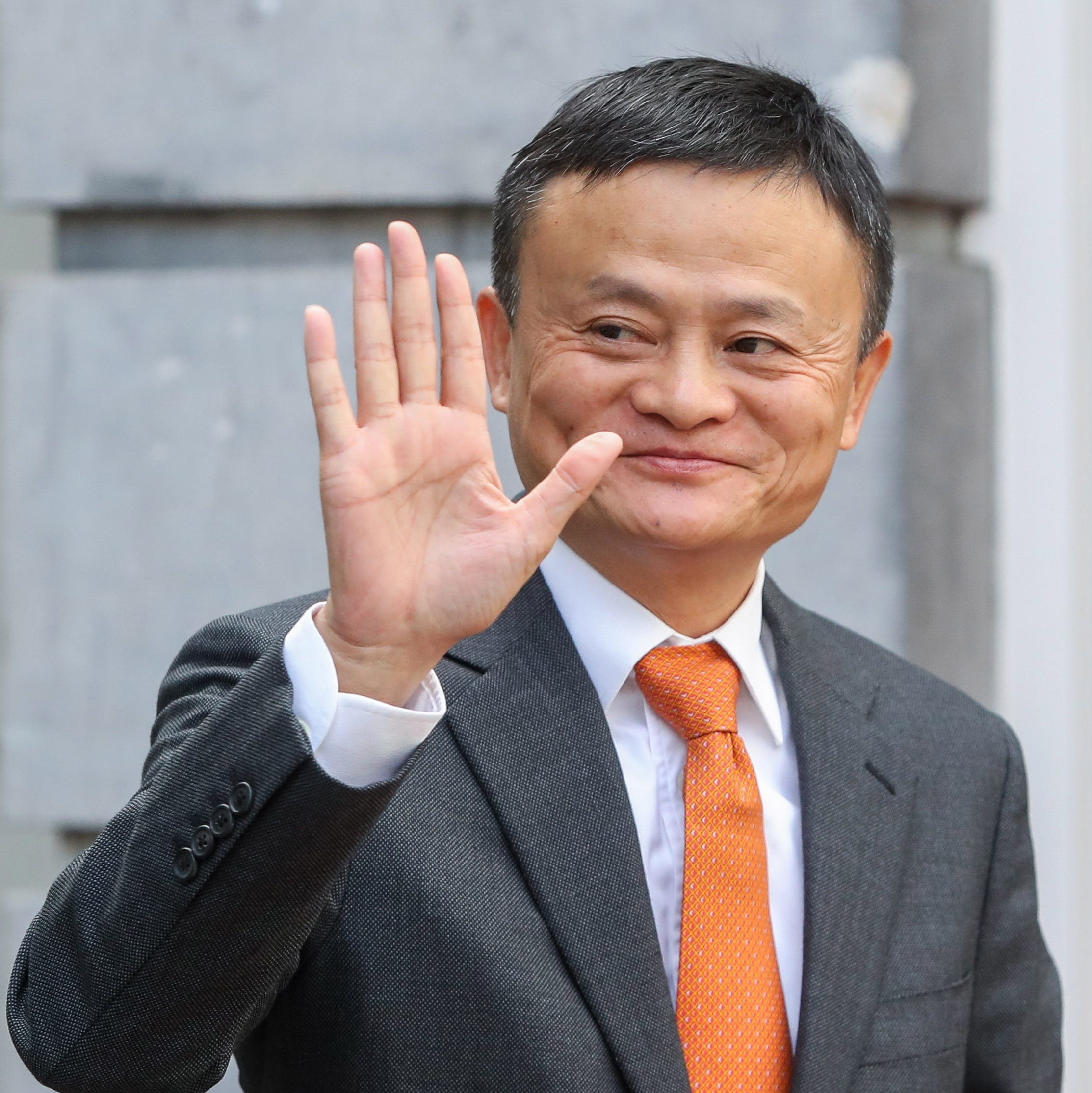 Jack Ma, the founder and executive chairman of Chinese e-commerce company Alibaba Group arrives for a meeting with Belgian Prime Minister Charles Michel  at the Lambermont in Brussels, Belgium, 3 July 2018.