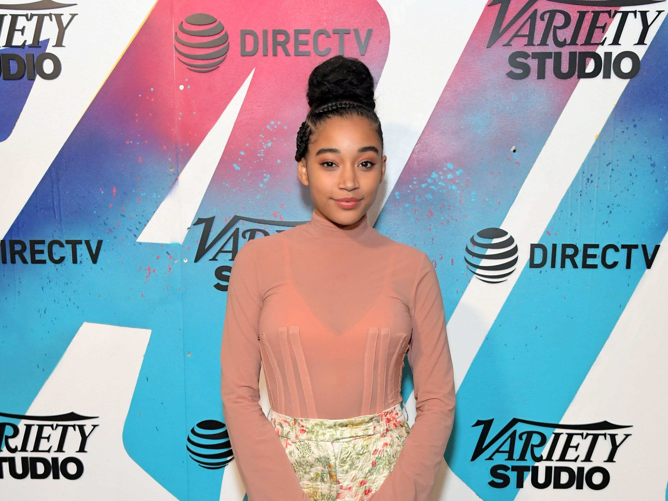 TORONTO, ON - SEPTEMBER 09:  Amandla Stenberg attends the Where Hands Touch Party at DIRECTV House presented by AT&T during Toronto International Film Festival 2018 at Momofuku Toronto on on September 9, 2018 in Toronto, Canada.
