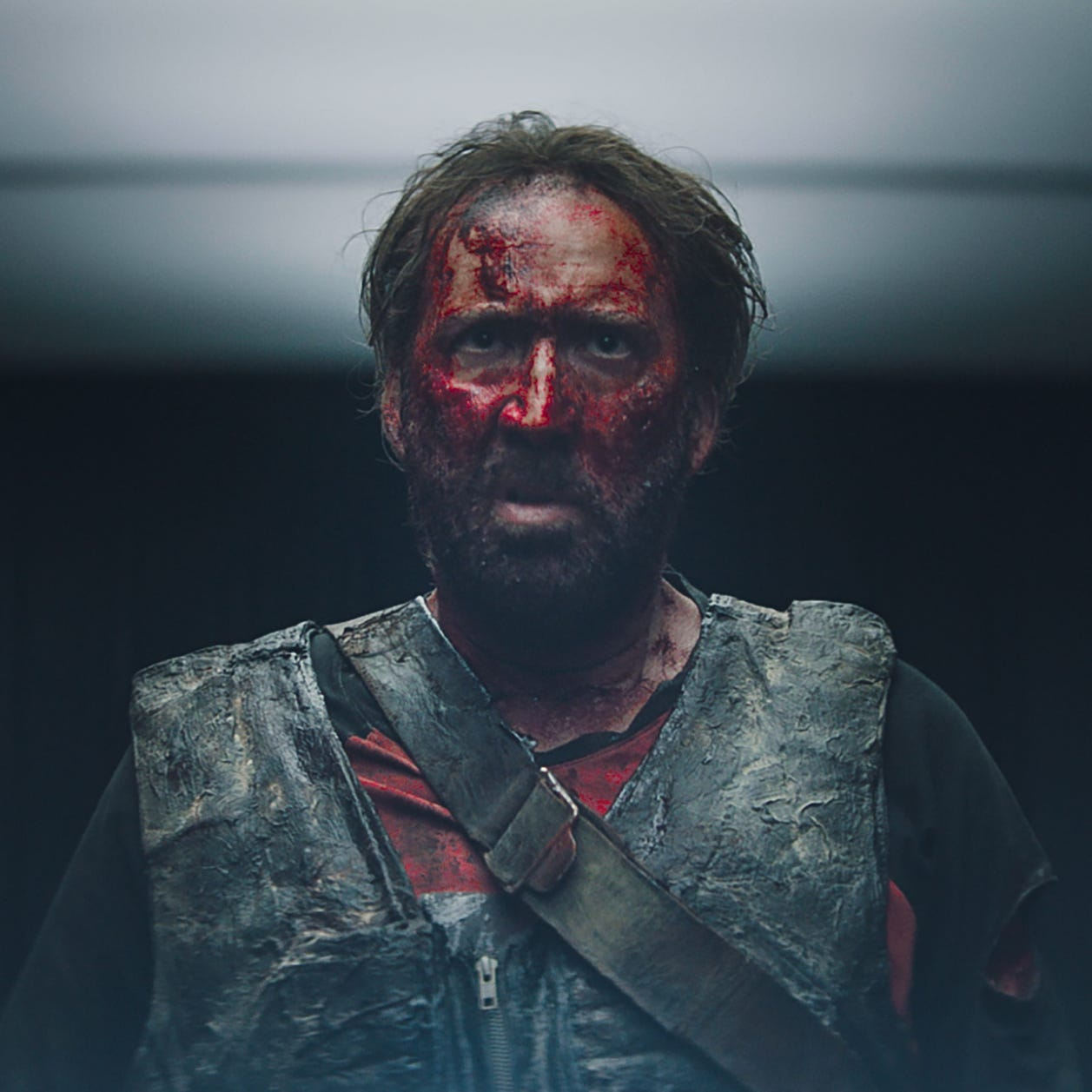 "Nicolas Cage wreaks bloody havoc in ""Mandy."""