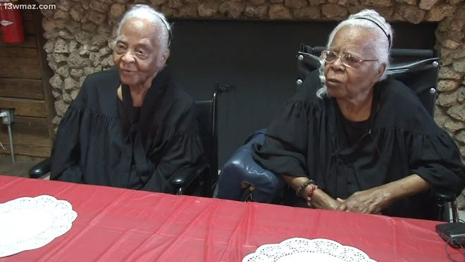 Twins Ann and Gussie Crumby turned 102 in May.
