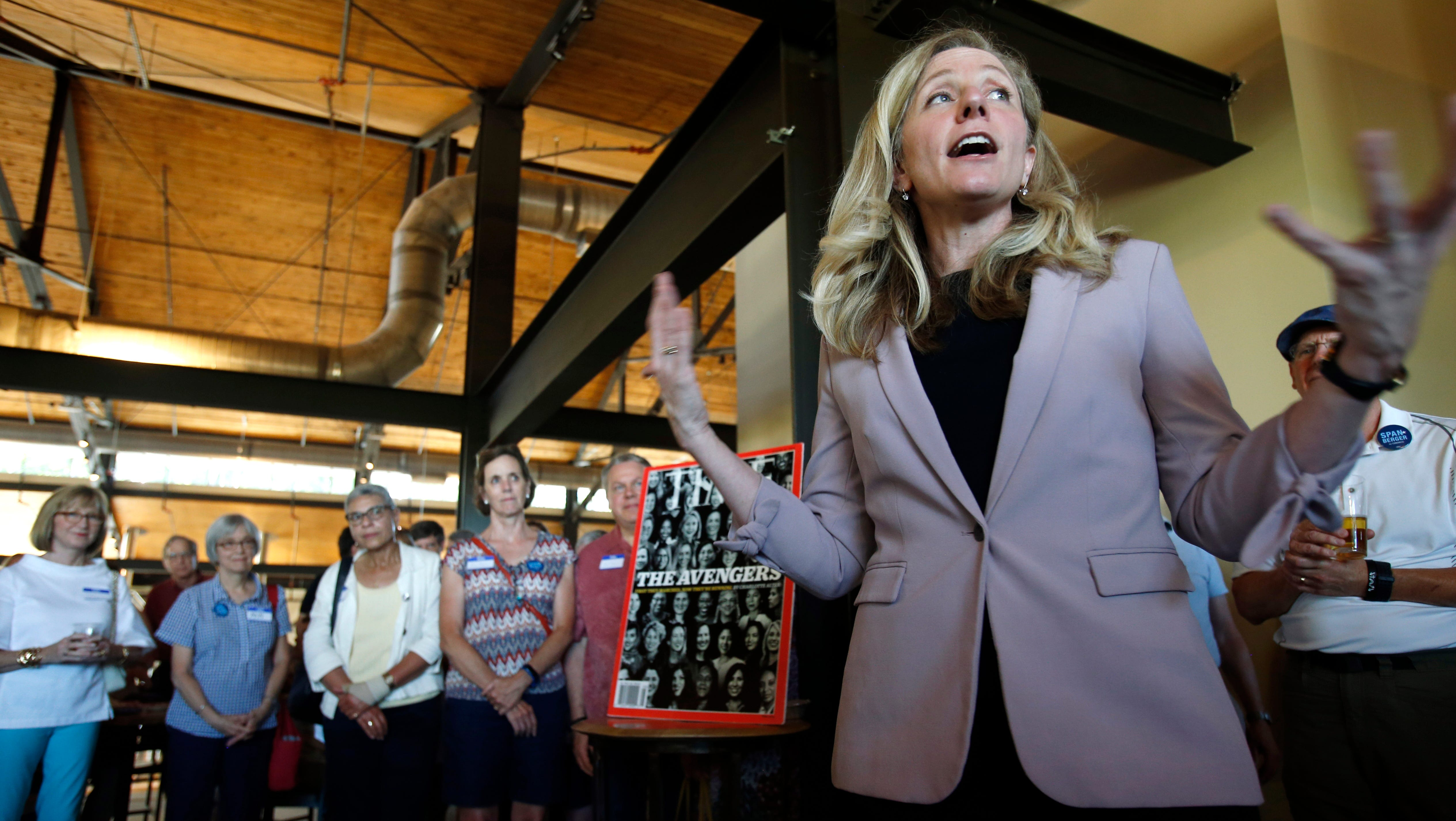 """The U.S. Postal Service wrongly released Abigail Spanberger's personnel file. The GOP targeted her for teaching at a Saudi Embassy school, dubbed """"Terror High."""""""