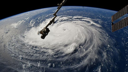 Hurricane Florence from ISS