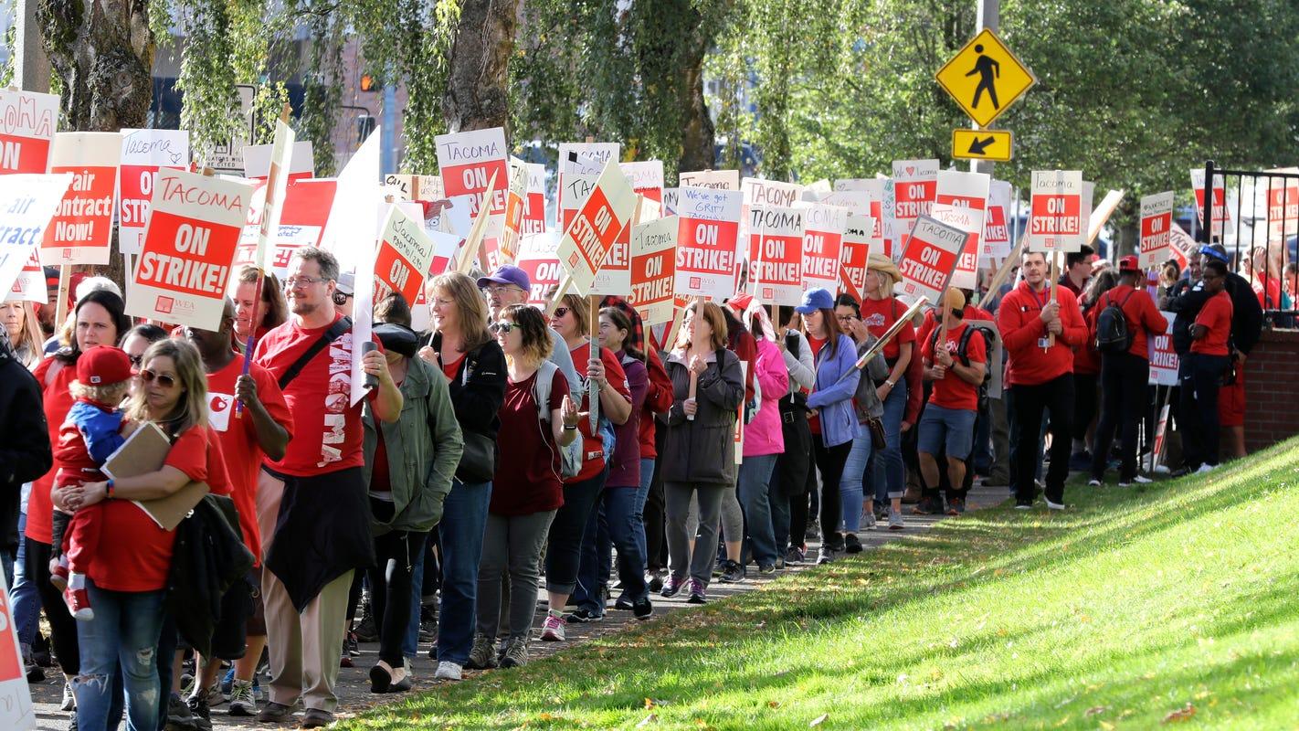 Teachers strikes continue as Washington educators notch a