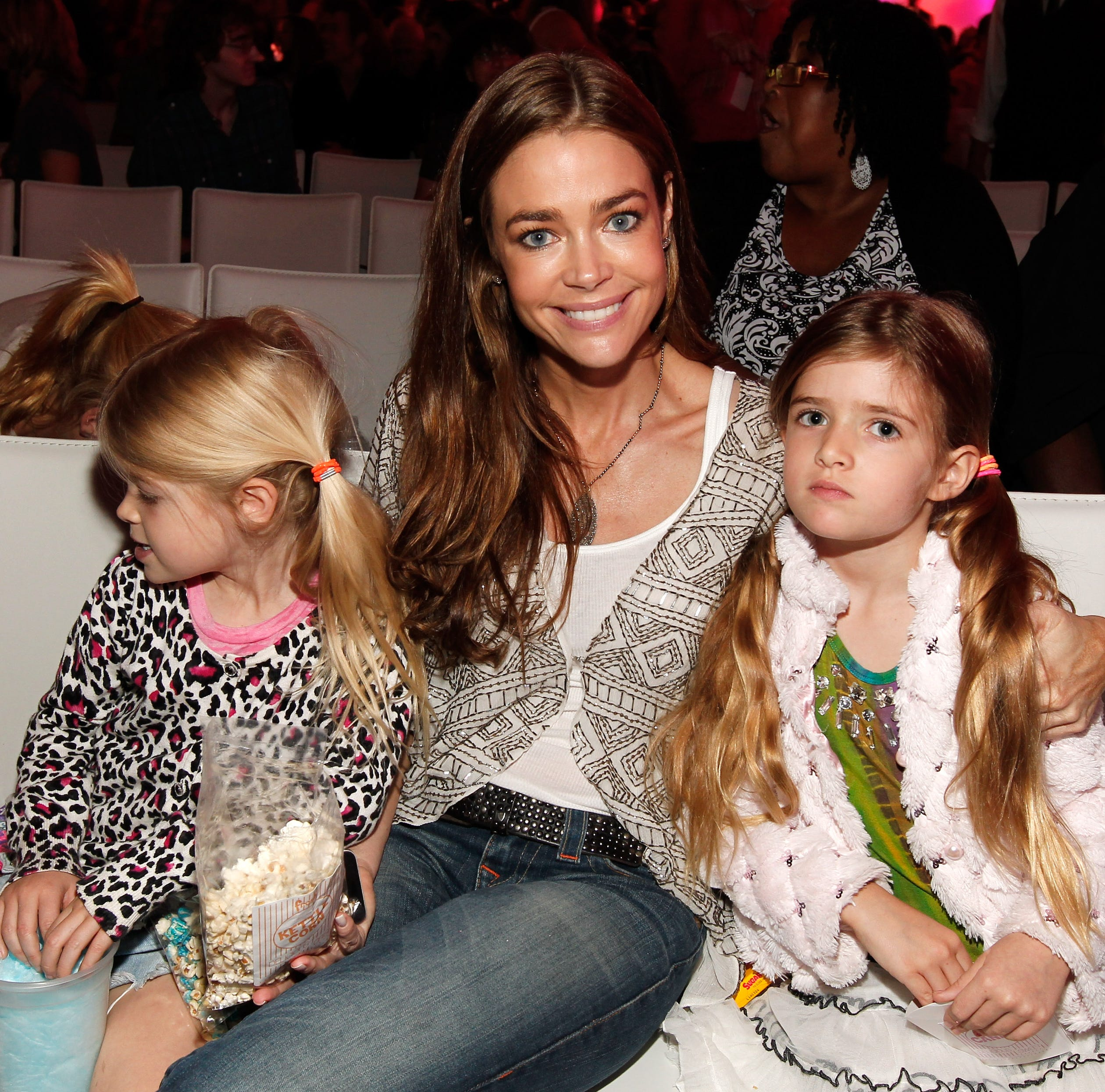 "HOLLYWOOD, CA - JUNE 04:  Actress Denise Richards (C) and daughters Sam Sheen (R) and Lola Rose Sheen (L) attend Nickelodeon's exclusive premiere for the upcoming primetime TV event of the summer. ""iParty with Victorious,"" Saturday, June 4, 2011 at The Lot in Los Angeles."