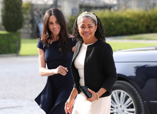 Meghan Markle with her mother, Doria Ragland, at Cliveden House Hotel, in Berkshire, England, the night before her wedding to Prince Harry on May 19, 2018.