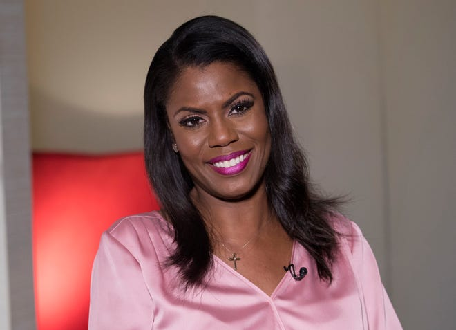 """Former White House staffer Omarosa Manigault Newman, photographed last month, appeared on """"The View"""" Monday, Sept. 10, 2018."""
