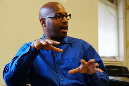 Carmen Garner teaches art to elementary school students in Washington, D.C. He says several have spoken of suicide.