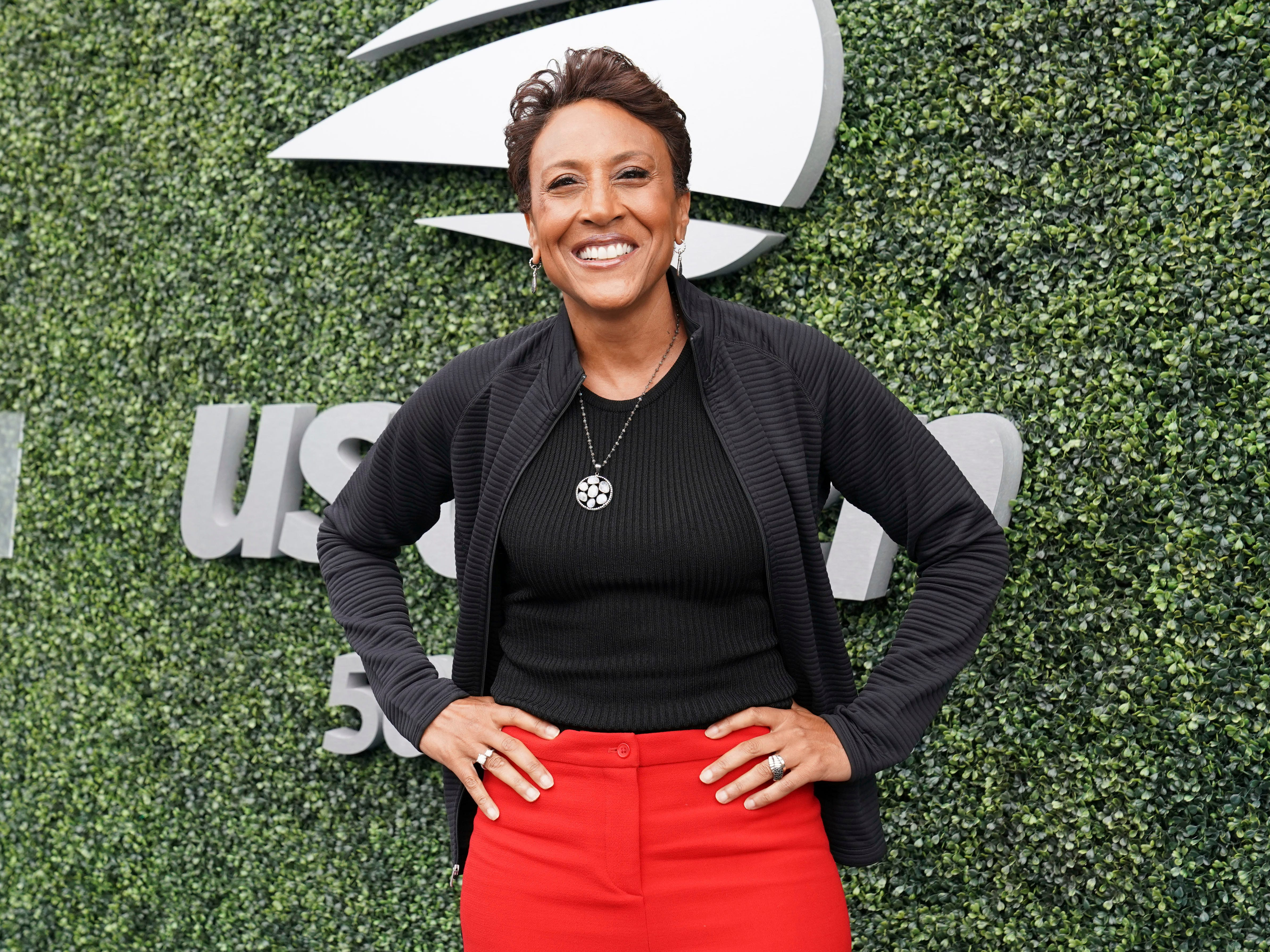 """Good Morning America"" host Robin Roberts attends the women's final between Serena Williams and Naomi Osaka."