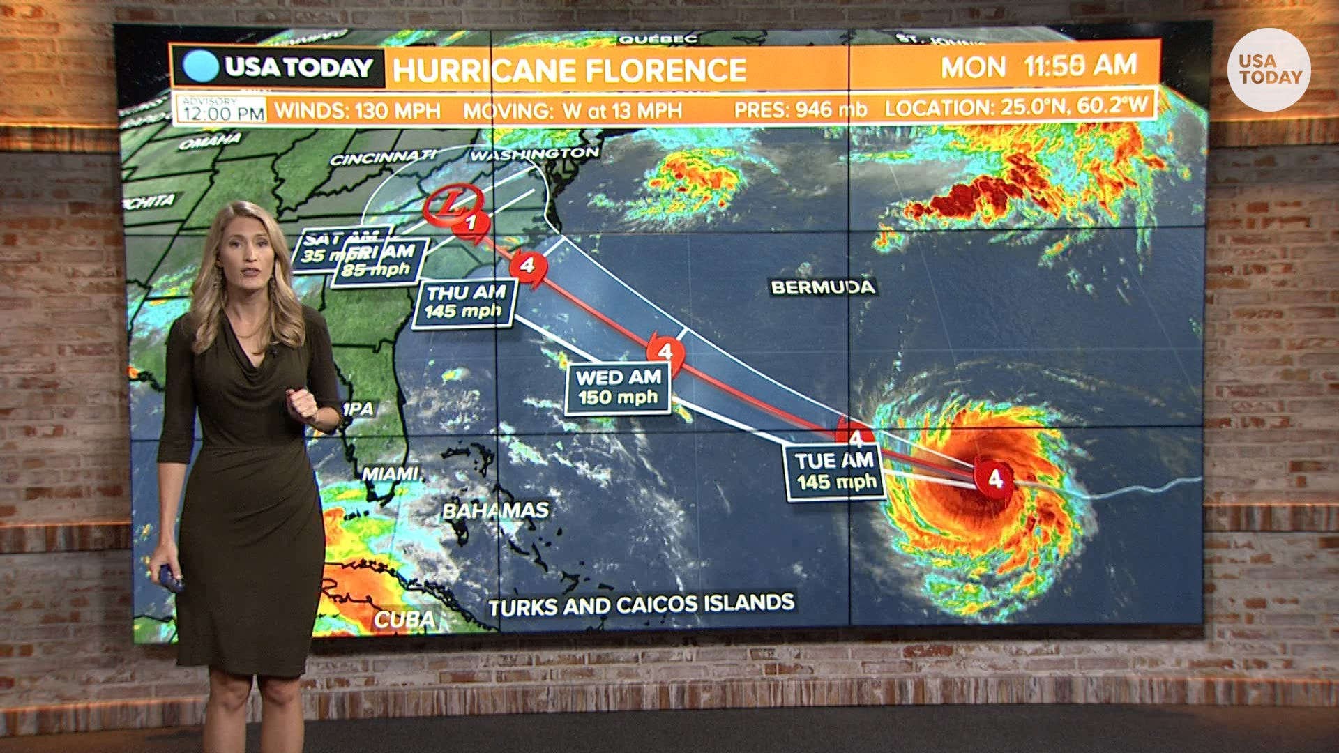 9fcadde73fc5 Hurricane Florence path  More than 1 million flee evacuation zone