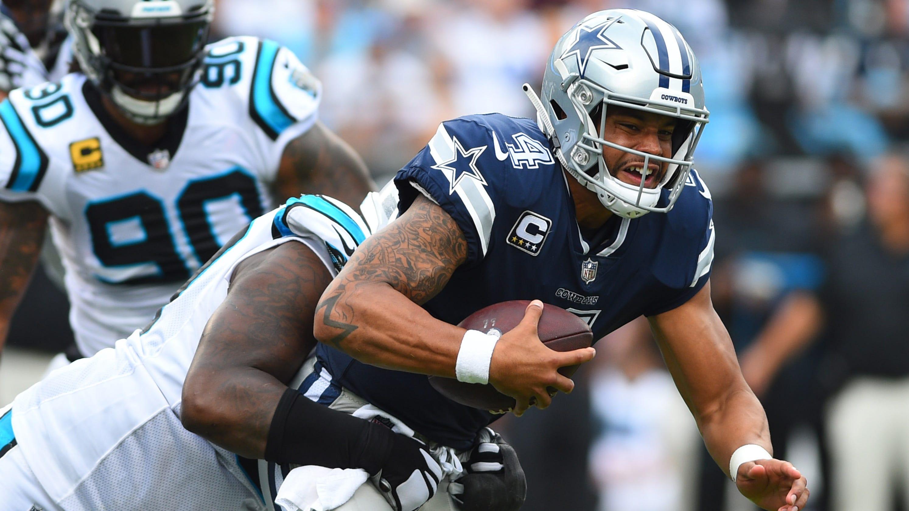 Dallas Cowboys  Dak Prescott has ugly opener vs. Carolina Panthers 62ea6ec77