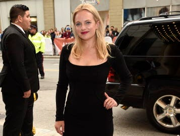 "Elisabeth Moss attends the premiere for ""Her Smell"" on day 4 of the Toronto International Film Festival at the Winter Garden Theatre on Sunday, Sept. 9, 2018, in Toronto. (Photo by Chris Pizzello/Invision/AP) ORG XMIT: CANPM159"