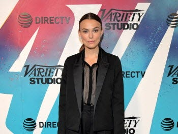 TORONTO, ON - SEPTEMBER 10:  Keira Knightley stops by DIRECTV House presented by AT&T during Toronto International Film Festival 2018 at Momofuku Toronto on September 10, 2018 in Toronto, Canada.  (Photo by Charley Gallay/Getty Images for AT&T and DIRECTV ) ORG XMIT: 775223973 ORIG FILE ID: 1030527594