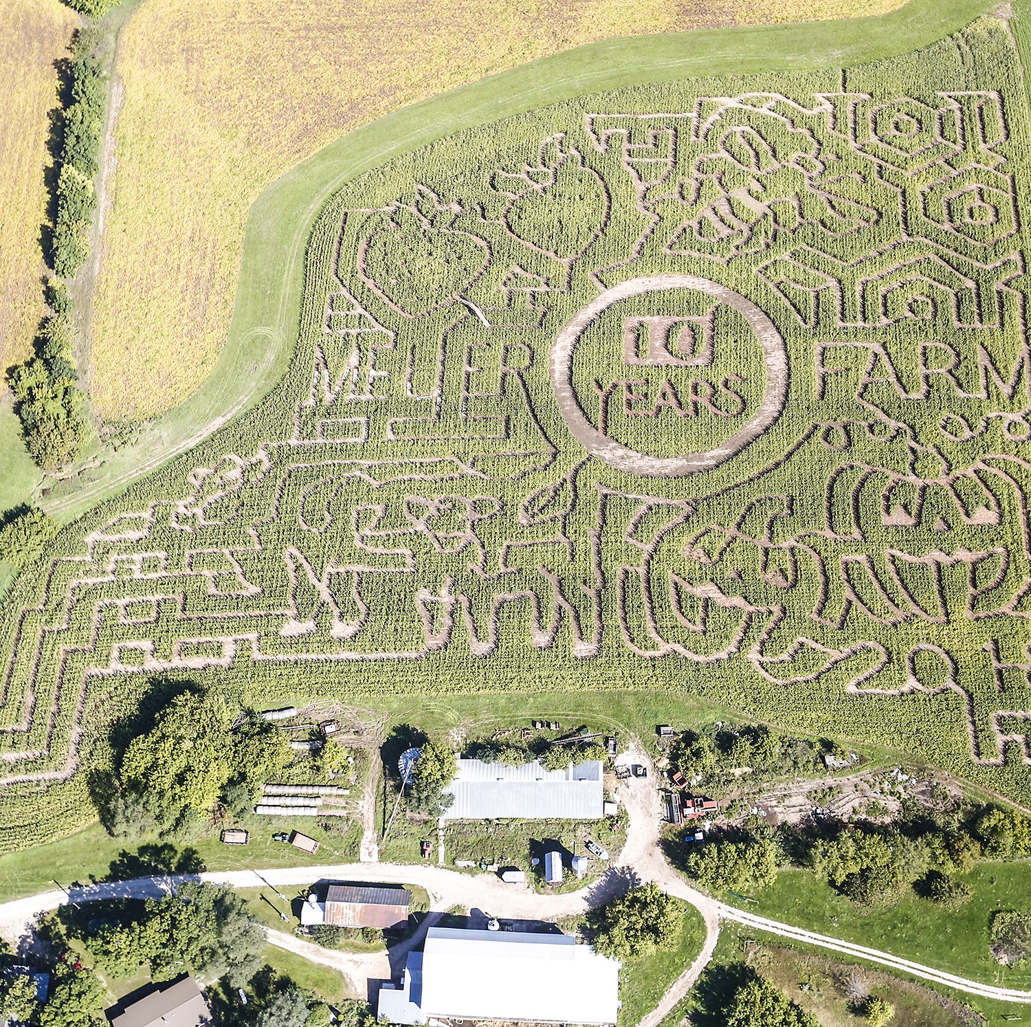 Get lost! Meuer Farm's 10th anniversary corn maze opens this weekend