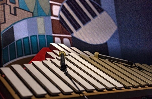 Duet xylophone to be placed near the corner of College Avenue and Morrison Street