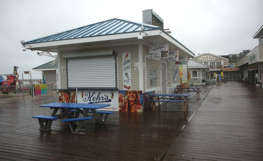 A Kohr's frozen custard stand on Farragut Avenue on the boardwalk in Seaside Park, near the Sawmill.