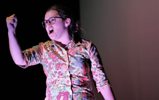 """Claire White is the Bubble Boy's protective mother, Mrs. Livingston, who is fearful of the world, human and otherwise, hurting him. Abilene High School presents """"Bubble Boy"""" at 7 p.m. Thursday and 2 and 7 p.m. Saturday at the AHS auditorium."""