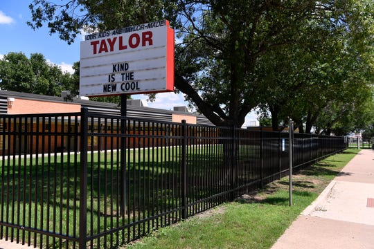 Taylor Elementary School in northeast Abilene, off Judge Ely Boulevard.
