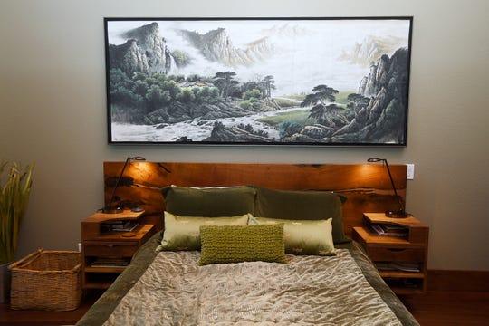 Jim and Sabrina Watson's master bedroom.