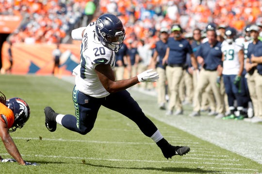 In his first NFL game, Sunday in Denver, Seahawks first-round draft pick Rashaad Penny gained just eight yards on seven carries.
