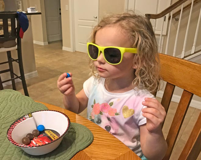 Isabella's future is so bright, she's gotta wear shades.