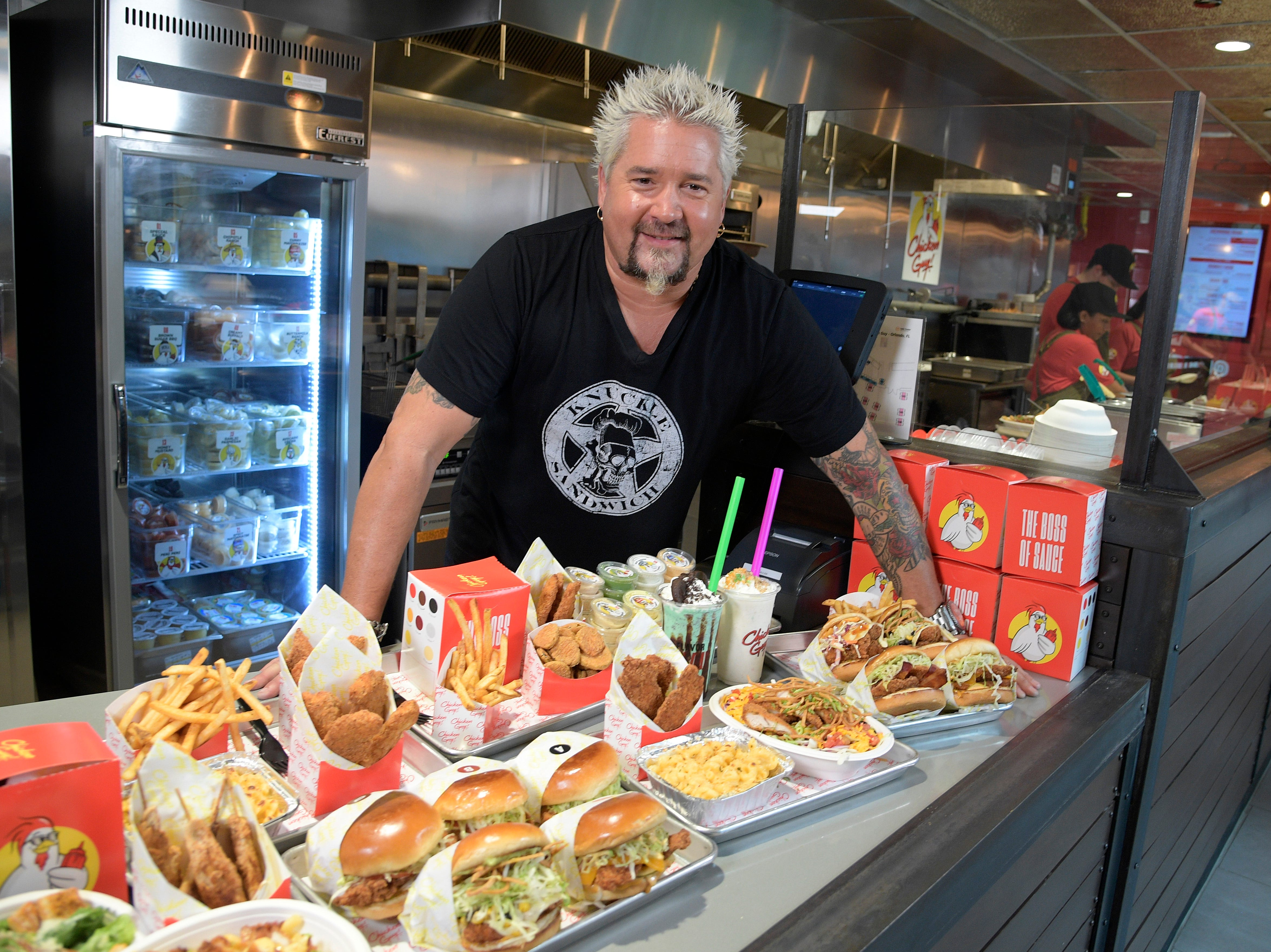 Chef Guy Fieri was at Chicken Guy! at Disney Springs Monday for a special ribbon-cutting ceremony.