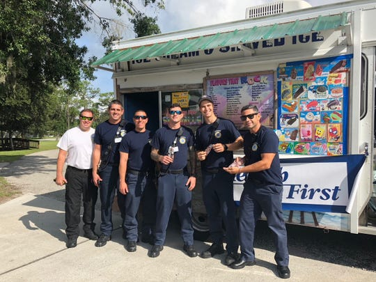 Brevard County Fire Rescue Station #23 in Titusville recently were treated to ice cream Health First for their service and dedication to the Space Coast.