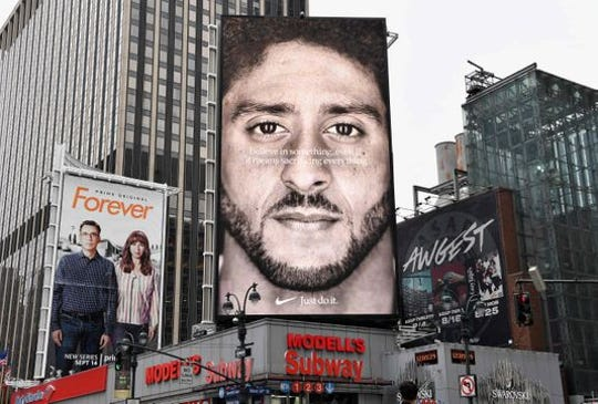Former NFL pro quarterback, already a controversial figure for kneeling during the National Anthem, is now featured in a Nike ad about sacrifice. Some people support him, other see it as a farce.