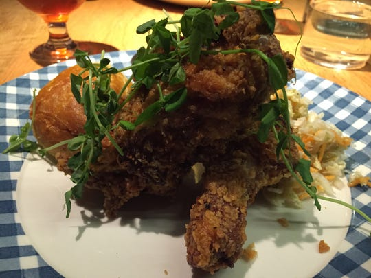 Juniper at Hotel Vermont offers a classy setting for its fried-chicken dinners.