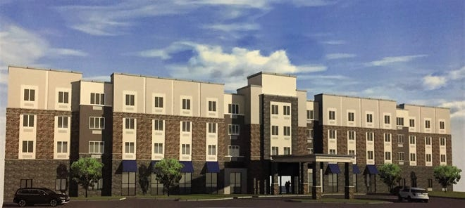 Camden's zoning board on Monday night advanced a proposed $20 million hotel on Linden Street in North Camden.