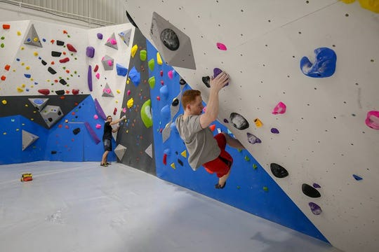 Any way you look at the geometric walls at Gravity Vault in Voorhees, climbing is a challenge.