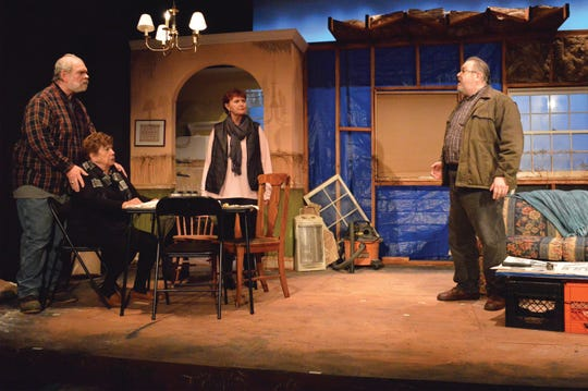 'By the Water' stars, from left, Russ Walsh, Susan Dewey, Elizabeth Terry and Michael Tamin Yuracaba at South  Camden Theatre Company.
