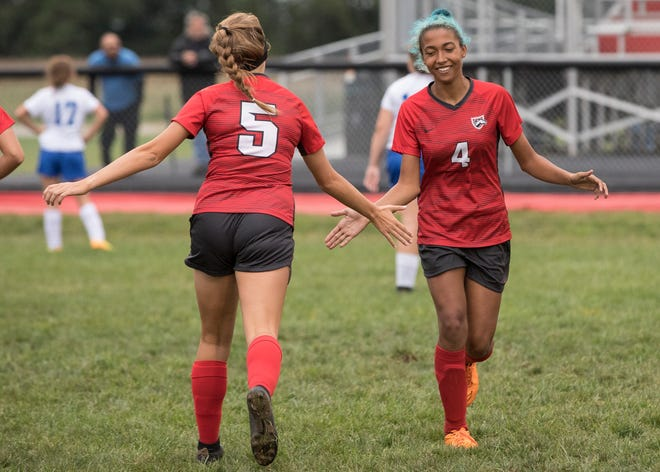 Westfall girls soccer plays in their first district semifinal in school history as they take on Wheelersburg High School on Tuesday.