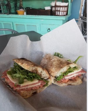 A soppressata sandwich at Peppe Cucina in Covington