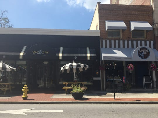 A view of Agave and Rye and Creme and Co. in Covington
