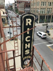 The sign for Rich's Proper Food And Drink in Covington, once a jewelry store.