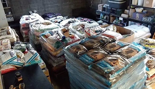 All Dogs Come From Heaven Animal Rescue say they share their pet supplies and food with others.