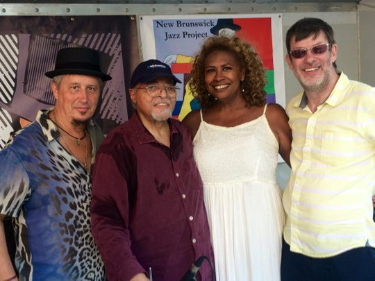 New Brunswick Jazz Project and Central Jersey Jazz Festival founders are pictured with National Endowment for the Arts Jazz Master Jimmy Cobb. Also pictured from left to right are Michael Tublin, Virginia DeBerry, and Jimmy  Lenihan.