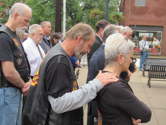 Hunterdon County held a 9/11 ceremony on the steps of the county's Historic Courthouse in Flemington.