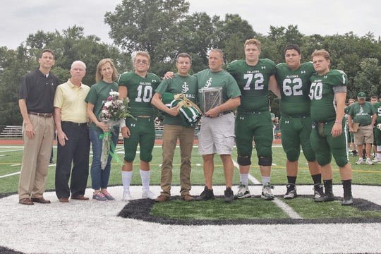 St. Joseph High School honored Marisa Tufaro during a ceremony prior to the football team's home opener on Saturday.