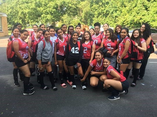 Congratulations to Plainfield's varsity and junior varsity Volleyball team lead by captains Melany Conchucos and Serenity Washington for their game opening win against Hillside High School. The varsity and junior varsity team defeated Hillside in two sets. There were Outstanding performances from seniors Shawkia Arrington with 5Kills, 2Aces and 2 digs and Kayla Brice with 1Kill, 6 Aces 19 service points and 4 digs. Congratulations to the lady cardinals. – Coach Chanice Sears.