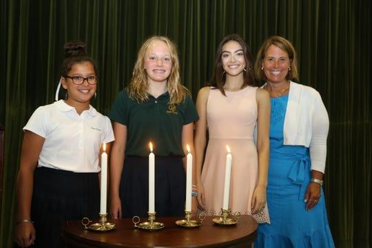 Left to right: Supriya Kamilla, Lindsay Hausman, Isabella Racioppi, Dr. Jennifer Galambos