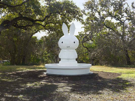 Photo A Miffy Fountain Laguna Gloria Courtesy Of Tom Sachs Studio