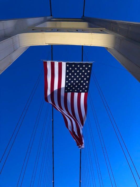 Mackinac Bridge Flag
